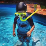 charlie ready to snorkel,